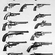Pistols And Revolvers Art Print
