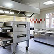 Pizzeria Kitchen Print by Magomed Magomedagaev