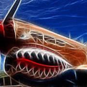 Plane Flying Tigers Art Print