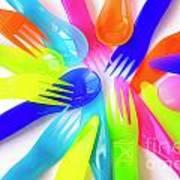 Plastic Cutlery Art Print