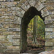 Poinsett Bridge With Gothic Arch Of Stone Art Print
