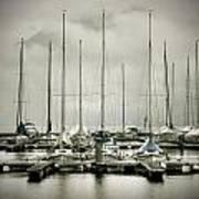 Port On A Rainy Day Art Print