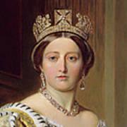 Portrait Of Queen Victoria Art Print by Franz Xavier Winterhalter