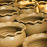 Pottery In Thailand  Art Print by Chatchawin Jampapha