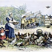 Poultry Yard, 1847 Art Print