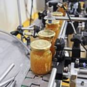 Preserve And Jam Bottling Production Line Print by Photostock-israel