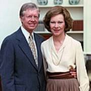 President Jimmy Carter And Rosalynn Art Print by Everett