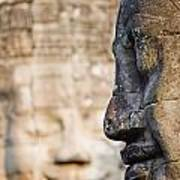 Profile Of Avalokiteshvara Statue Art Print