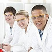 Pupils In A Science Lesson Art Print