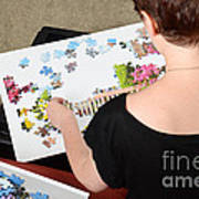 Puzzle Therapy Print by Photo Researchers, Inc.
