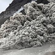 Pyroclastic Flow Descending The Flank Art Print