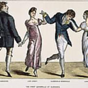Quadrille, 1820 Art Print