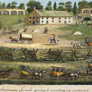 Quaker Meeting, 1811 Art Print by Granger