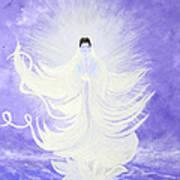 Quan Yin Art Print by Judy M Watts-Rohanna