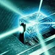 Quantum Computer Core Art Print