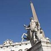 Quirinal Obelisk In Front Of Palazzo Del Quirinale. Rome Art Print