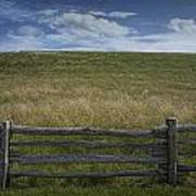Rail Fence And Field Along The Blue Ridge Parkway Art Print