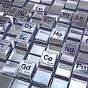 Rare Earth Metals, Conceptual Image Art Print