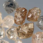 Raw Diamonds Art Print