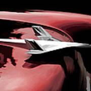 Red Chevy Jet Art Print