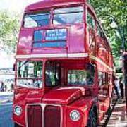 Red London Bus Art Print