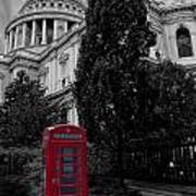 Red Telephone Box Art Print