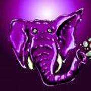 Ringo Party Animal Purple Art Print