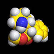 Ritalin Molecule Art Print