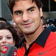 Roger Federer At A Public Appearance Art Print