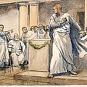 Roman Senate: Catiline Art Print