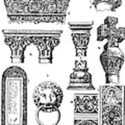 Romanesque Ornament Art Print