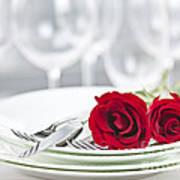 Romantic Dinner Setting Art Print