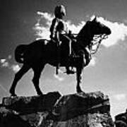 Royal Scots Greys Boer War Monument In Princes Street Gardens Edinburgh Scotland Uk United Kingdom Art Print