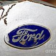 Rusted Antique Ford Car Brand Ornament Art Print