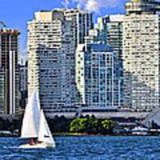Sailing In Toronto Harbor Art Print by Elena Elisseeva
