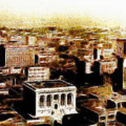San Francisco Skyline Panorama 1909 From The Ferry Building Through South Of Market Art Print by Wingsdomain Art and Photography