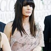 Sandra Bullock Wearing A Jenny Packham Art Print by Everett