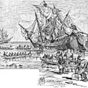 Santa Maria: Wreck, 1492 Print by Granger