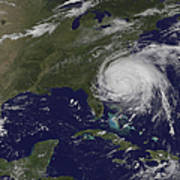Satellite View Of Hurricane Irene Art Print