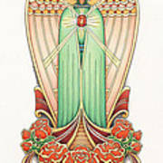 Scroll Angel - Roselind Art Print by Amy S Turner