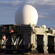 Sea Based X-band Radar Dome Modeled Art Print