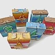 Sea Boxes Art Print