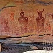 Sego Canyon Indian Petroglyphs And Pictographs Art Print