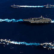 Ships From The John C. Stennis Carrier Art Print