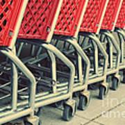 Shopping Carts Art Print