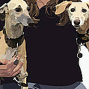 Sighthounds II Art Print by Kris Hackleman
