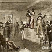 Slave Auction, 1861 Art Print by Photo Researchers