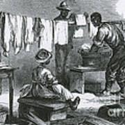 Slaves In Union Camp Art Print