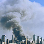 Smoke Billows Over Manhattan Art Print