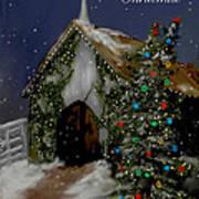 Snowy Christmas Eve Art Print